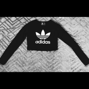 Adidas long sleeve crop top!